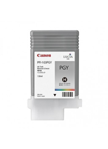 Canon originál ink PFI103PGY, photo grey, 130ml, 2214B001, Canon iPF-5100, 6100