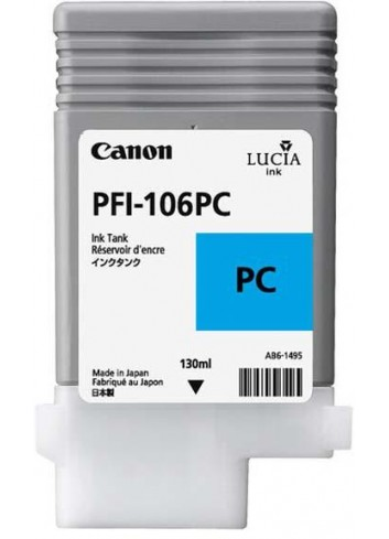 Canon originál ink PFI106PC, photo cyan, 130ml, 6625B001, Canon iPF-6300