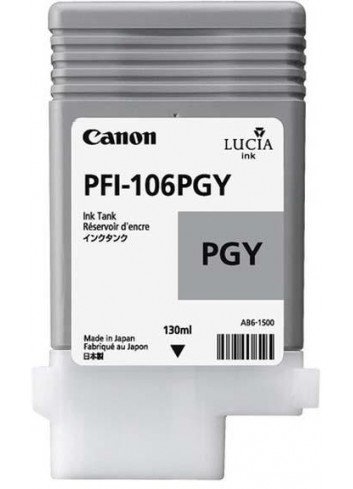 Canon originál ink PFI106PGY, photo grey, 130ml, 6631B001, Canon iPF-6300,6400