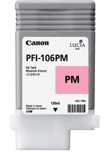 Canon originál ink PFI106PM, photo magenta, 130ml, 6626B001, Canon iPF-6300