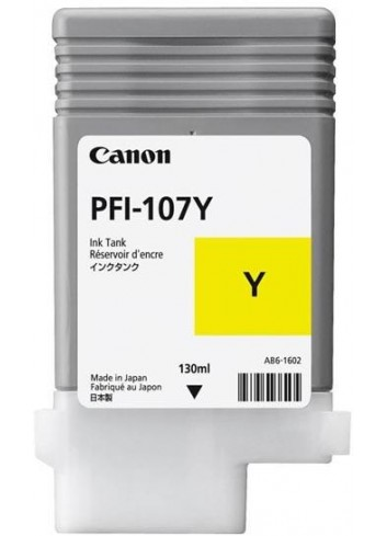 Canon originál ink PFI107Y, yellow, 130ml, 6708B001, Canon iPF-680, 685, 780, 785