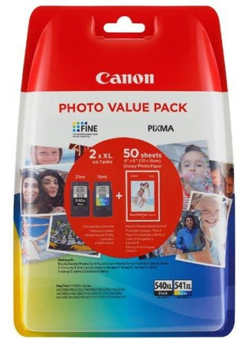Canon originál value pack PG-540XL+CL-541XL + fotopapier PG-540XL+CL-541XL, black/color, 5222B013, Canon MG2150,2250,3150,3250,