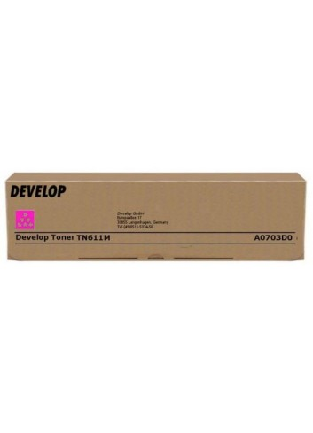 Develop originál toner A0703D0, magenta, 27000str., TN-611M, Develop Ineo +550, +650