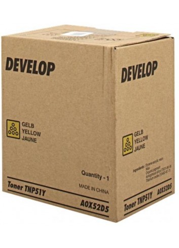 Develop originál toner A0X52D5, yellow, 5000str., TNP51Y, Develop Ineo +3110