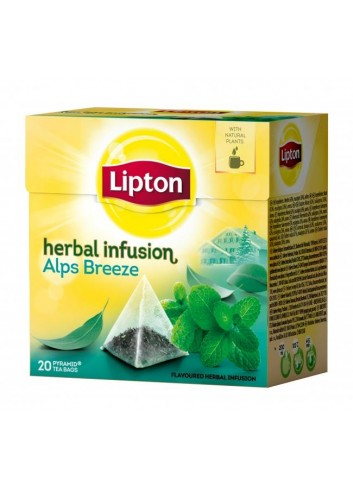 Čaj Lipton bylinný Infusion Herbal Alps Breeze pyramídy 22g