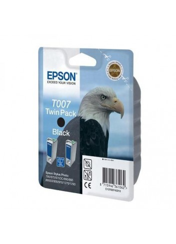 Epson originál ink C13T007402, black, 1080str., 32ml, 2ks, Epson Stylus Photo 870, 875D, 790, 890, 895, 1270, 1290