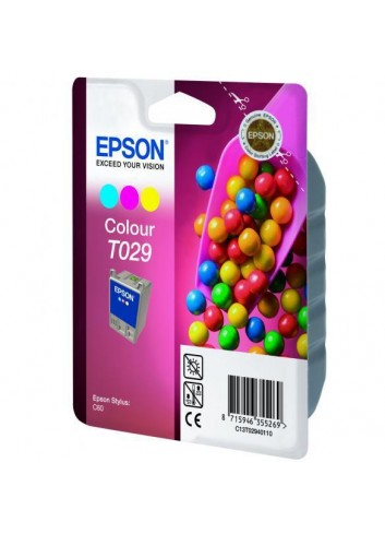 Epson originál ink C13T029401, color, 300str., 37ml, Epson Stylus Color C60