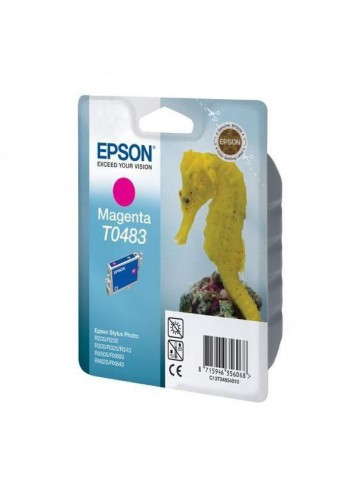 Epson originál ink C13T048340, magenta, 430str., 13ml, Epson Stylus Photo R200, 220, 300, 320, 340, RX500, 600