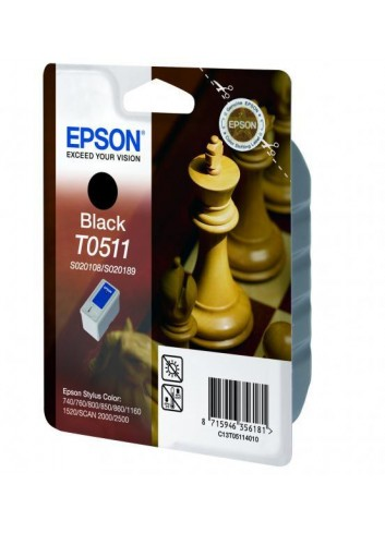 Epson originál ink C13T051140, black, 900str., 24ml, Epson Stylus Color 800, 850, 1520