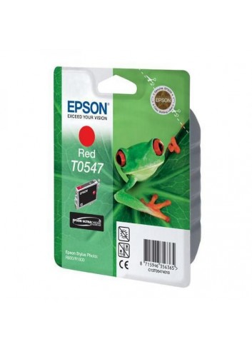 Epson originál ink C13T054740, red, 400str., 13ml, Epson Stylus Photo R800, R1800