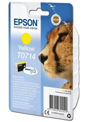 Epson originál ink C13T07144012, yellow, 405str., 5,5ml, Epson D78, DX4000, DX4050, DX5000, DX5050, DX6000, DX605