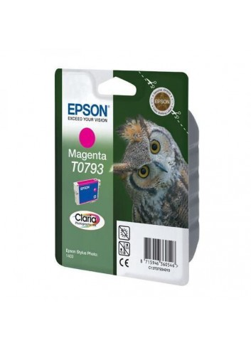Epson originál ink C13T079340, magenta, 11,1ml, Epson Stylus Photo 1400