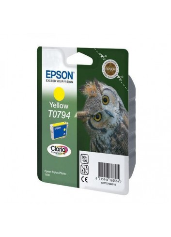 Epson originál ink C13T079440, yellow, 11,1ml, Epson Stylus Photo 1400