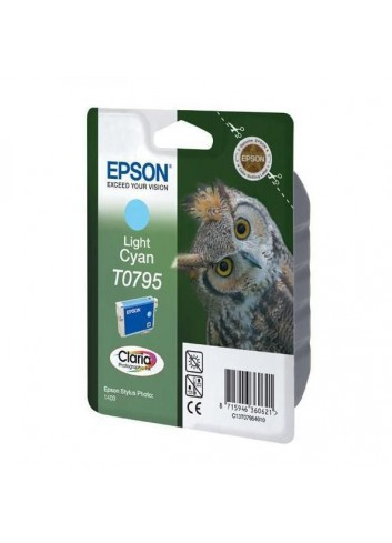 Epson originál ink C13T079540, light cyan, 11,1ml, Epson Stylus Photo 1400