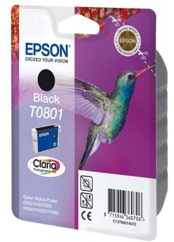 Epson originál ink C13T08014011, black, 7,4ml, Epson Stylus Photo PX700W, 800FW, R265, 285, 360, RX560
