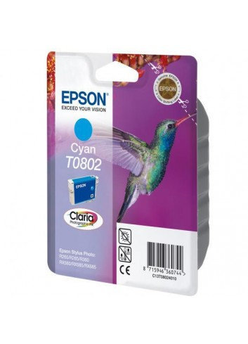 Epson originál ink C13T08024011, cyan, 7,4ml, Epson Stylus Photo PX700W, 800FW, R265, 285, 360, RX560