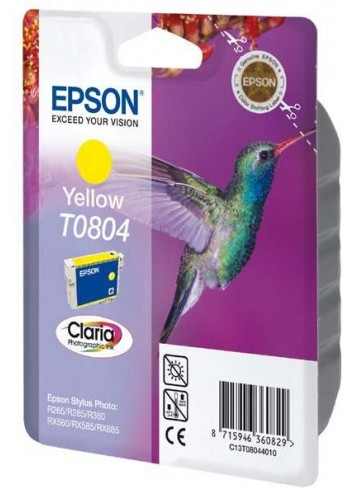 Epson originál ink C13T08044011, yellow, 7,4ml, Epson Stylus Photo PX700W, 800FW, R265, 285, 360, RX560