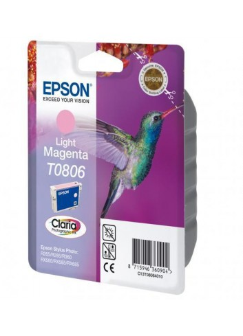 Epson originál ink C13T08064011, light magenta, Epson Stylus Photo PX700W, 800FW, R265, 285, 360, RX560