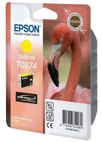 Epson originál ink C13T08744010, yellow, 11,4ml, Epson Stylus Photo R1900