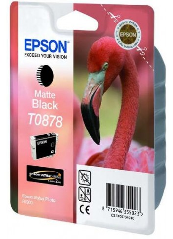 Epson originál ink C13T08784010, matte black, 11,4ml, Epson Stylus Photo R1900