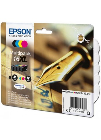 Epson originál ink C13T16364012, T163640, 16XL, CMYK, 3x6.5/12.9ml, Epson WorkForce WF-2540WF, WF-2530WF, WF-2520NF, WF-2010