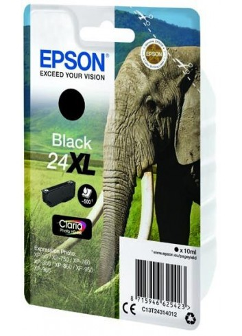 Epson originál ink C13T24314012, T2431, 24XL, black, 10ml, Epson