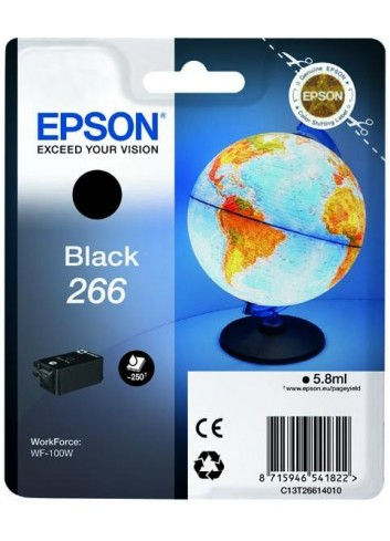 Epson originál ink C13T26614010, 266, black, 5,8ml, Epson WF-100W