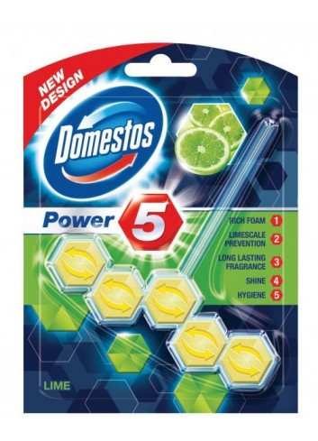 Domestos WC Power5 Lime 55g guľôčky do WC