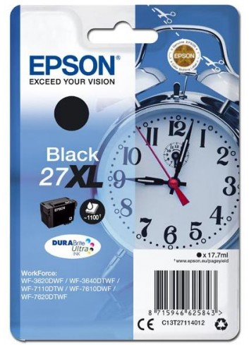 Epson originál ink C13T27114012, 27XL, black, 17,7ml, Epson WF-3620, 3640, 7110, 7610, 7620