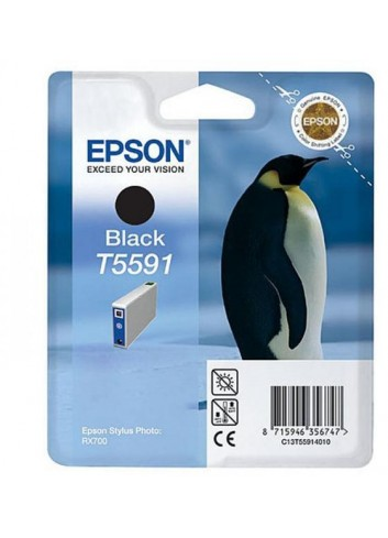 Epson originál ink C13T55914010, black, 13ml, Epson Stylus Photo RX700