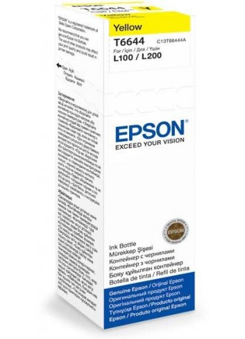 Epson originál ink C13T66444A, yellow, 70ml, Epson L100, L200, L300