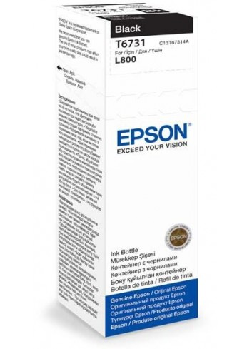 Epson originál ink C13T67314A, black, 70ml, Epson L800