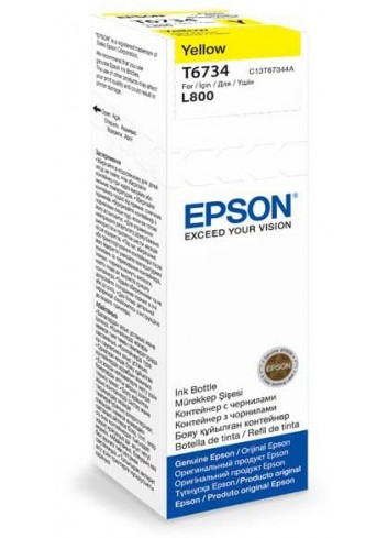 Epson originál ink C13T67344A, yellow, 70ml, Epson L800