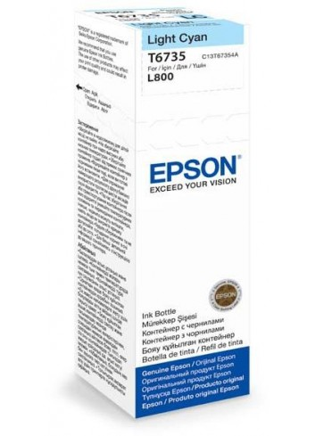 Epson originál ink C13T67354A, light cyan, 70ml, Epson L800