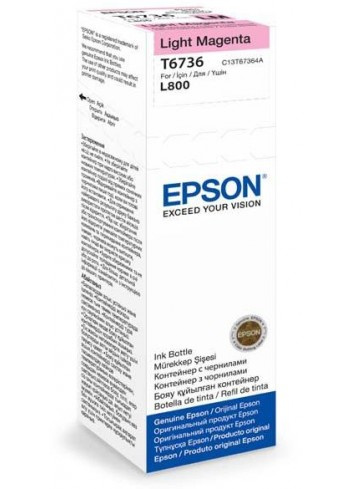Epson originál ink C13T67364A, light magenta, 70ml, Epson L800