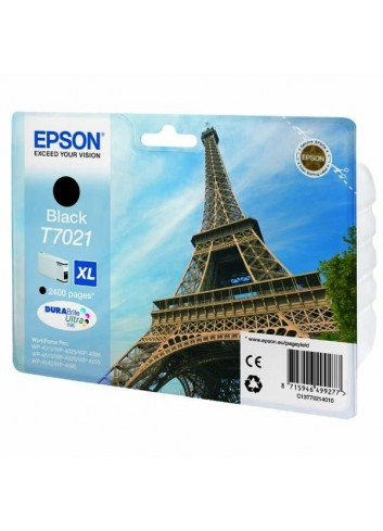 Epson originál ink C13T70214010, XL, black, 2400str., Epson WorkForce Pro WP4000, 4500 series