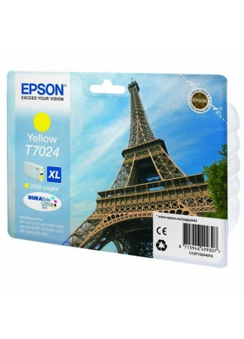 Epson originál ink C13T70244010, XL, yellow, 2000str., Epson WorkForce Pro WP4000, 4500 series