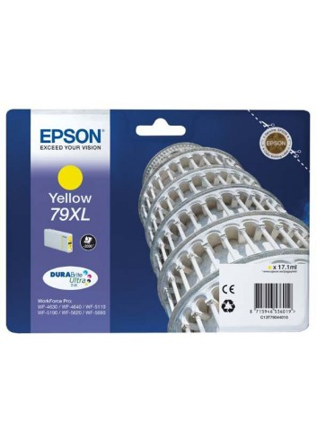 Epson originál ink C13T79044010, 79XL, XL, yellow, 2000str., 17ml, 1ks, Epson WorkForce Pro WF-5620DWF, WF-5110DW, WF-5690DWF