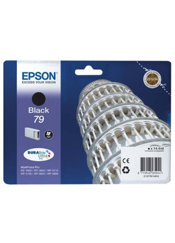 Epson originál ink C13T79114010, 79, L, black, 900str., 14ml, 1ks, Epson WorkForce Pro WF-5620DWF, WF-5110DW, WF-5690DWF