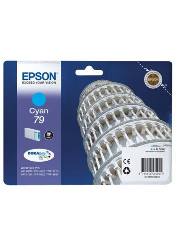 Epson originál ink C13T79124010, 79, L, cyan, 800str., 7ml, 1ks, Epson WorkForce Pro WF-5620DWF, WF-5110DW, WF-5690DWF