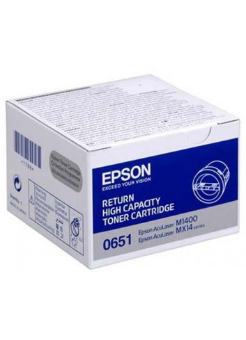 Epson originál toner C13S050651, black, 2200str., return, high capacity, Epson Aculaser M1400, MX14