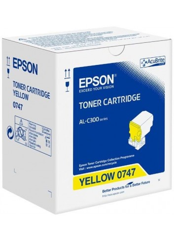 Epson originál toner C13S050747, yellow, 8800str., Epson WorkForce AL-C300N