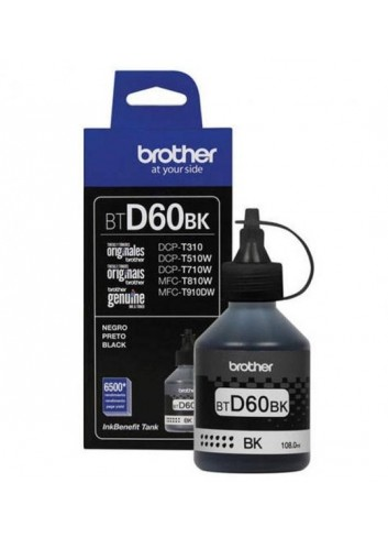 Brother originál ink BTD60BK, black, 6500str., 108ml, Brother DCP T310, DCP T510W, DCP T710W