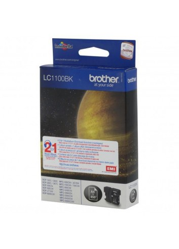Brother originál ink LC-1100BK, black, 500str., Brother DCP-6690CW, MFC-6490CW