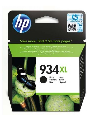HP originál ink C2P23AE, HP 934XL, black, 1000str., 25,5ml, HP Officejet 6812,6815,Officejet Pro 6230,6830,6835