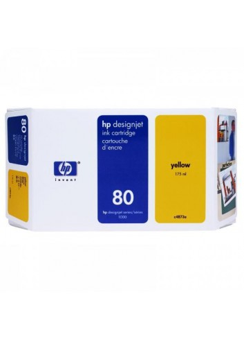 HP originál ink C4848A, HP 80, yellow, 350ml, HP DesignJet 1050, C, 1055, C, CM