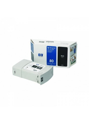 HP originál ink C4871A, HP 80, black, 350ml, HP DesignJet 1050, C, 1055, C, CM