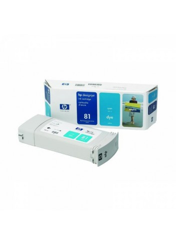 HP originál ink C4931A, HP 81, cyan, 680ml, HP DesignJet 5000, PS, UV, 5500, PS, UV