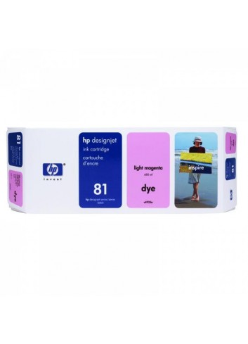 HP originál ink C4935A, HP 81, light magenta, 680ml, HP DesignJet 5000, PS, UV, 5500, PS, UV