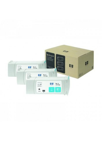 HP originál ink C5067A, HP 81, cyan, 3x680ml, 3ks, HP DesignJet 5000, PS, UV, 5500, PS